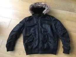 men s h m winter jacket with hood size medium