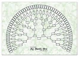 Godridges Of Coventry Family Tree Chart 7 Generation Fan Design
