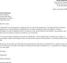 Sample Cover Letter For Receptionist Position Adriangatton Com
