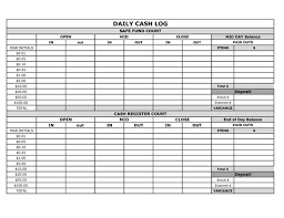 Daily Cash Drawer Balancing Log Easily Track Your Daily