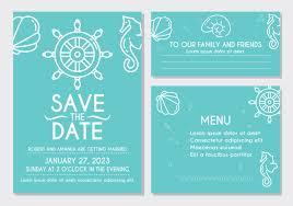 Beach Invitation Beach Wedding Invitation Card Download Free Vectors