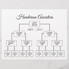 Four Generation Genealogy Chart Choose Your Color