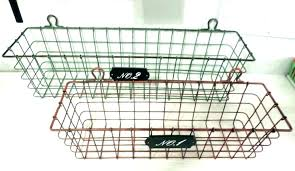wall mounted baskets wire wall storage bins storage baskets for shelves hanging storage throughout wall mounted wall mounted baskets