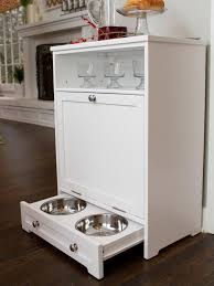 dog storage furniture. White Storage Cabinet With Dog Feeder And Wood Floorings For Home Decoration Ideas Furniture E