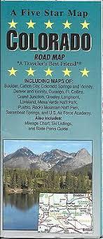 Colorado Mileage Chart Road Map Of Colorado By Five Star Map 9781592140473 Ebay