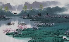 original famous watercolor painting artist zhang quanzong
