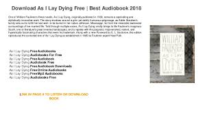 as i lay dying audiobooks as i lay dying best audiobook 2018 one of william faulkner s finest novels