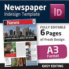 Free Indesign Newspaper Template Best Photos Of Newspaper Template Indesign Free Newspaper