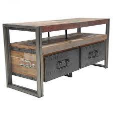 used industrial furniture. loft tv unit with 2 drawers industrial furniturewood used furniture c