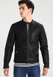 jack jones joryour daily leather jacket black men jack and jones shoes