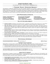 Project Manager Cv Example Cv Template And Writin Rs Geer Books
