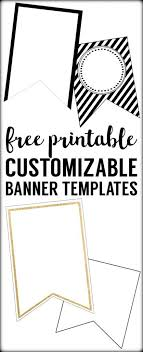 Free Printable Banner Templates Blank Banners Paper
