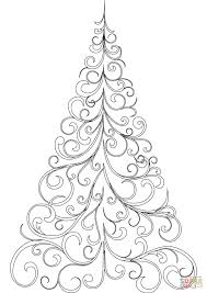 Christmas Tree Coloring Pages For Children Drawing Colouring 2550
