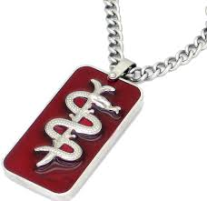 stainless steel medical tags allertag deluxe medical id necklace