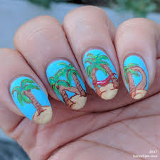 palm tree inad international nail art day