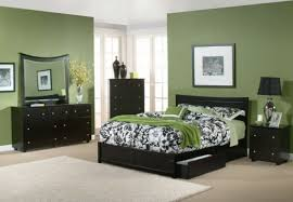 Paint Color For Bedroom Retro Master Bedroom Dark Wood Furniture Interior Design Ideas