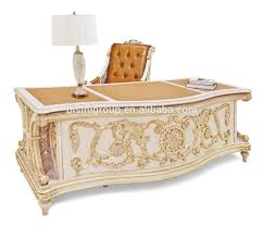 office writing table. Luxury Italian Design Handcarved Office Writing Table Of White And Gold, With Beautiful Handmade Swivel