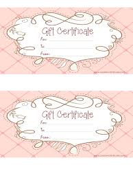 Printable Gift Certificate Templates Gift Certificate Templates Free Printable 256723720069 Gift