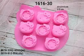 Jual 1616 30 Cetakan Silikon Coklat Puding Hello Kitty Bento Cake
