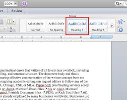 microsoft table of contents word mac  order your table of contents by consistently formatting your document