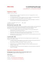Email Marketing Resume Sample