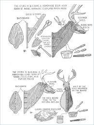 paper mache deer head template wooden diy puzzle moose