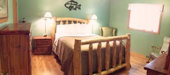 Log Bedroom Suites Aunt Kays Cabin Look Inside