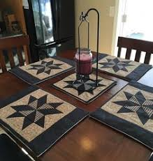 Quilted Placemats, Country Placemats, Set 4, Western Decor ... & Primitive Country Placemats Adamdwight.com