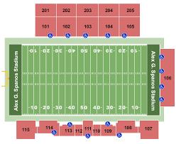 Alex G Spanos Stadium Seating Chart Cal Poly Mustangs Vs Eastern Washington Eagles At Alex G