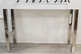 modern white lacquer console table