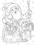 Новый год 2017 распечатать раскраску