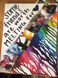 melted crayon pictures