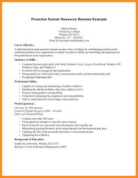 Hr Resume Objective Resume Peppapp