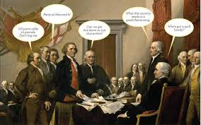 1818 declaration of independence by john trumbull image by poodlesrock declaration of independence signing painting