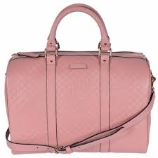 gucci pink leather 449646 micro gg guccissima boston bag satchel w strap soft pink 13 x 9 5 x 7 free today 17521470