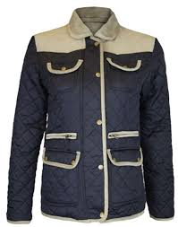 Cheap Quilted Padded Coats, find Quilted Padded Coats deals on ... & Womens Padded Winter Jackets Ribbed Elbow Patch Quilted Coats Adamdwight.com