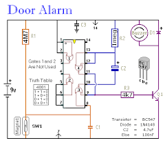 simple door alarm circuit simple door or shed alarm schematic diagram