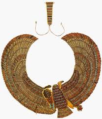 ancient egypt jewelry necklace with griffon cobra