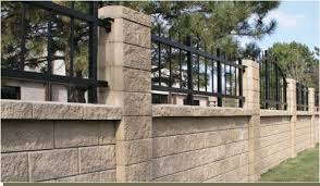 Small Picture This block wall fence has ornamental iron rails dream house