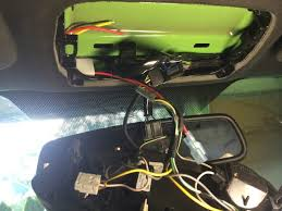 hardwiring a dashcam the mustang source ford mustang forums i have the power cable running in the same sleeve the rearview mirror cable is in to keep it as clean as possible