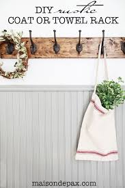 Strong Coat Rack DIY Rustic Towel Rack Towels Tutorials And Spaces 44