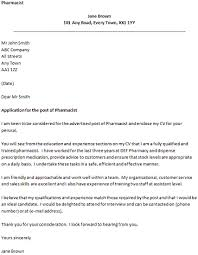 Pharmacy Cover Letter Examples Pharmacist Cover Letter Example Coverletters And Resume