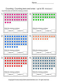 Counting Tens and Ones Worksheets