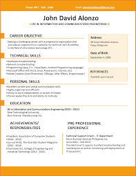 7 Example Resume Fresh Graduate Martini Pink