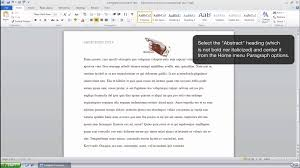 apa format on word how to format an abstract page in apa style ms word 2010