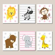 jungle animals nursery wall art prints or in animal pictures for uk zebra watercolor painting safari stylish