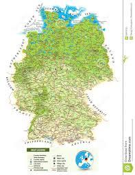 Germania Cartina Fisico Politica Tomveelers
