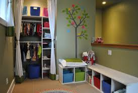 small closet lighting ideas. Amusing Design For Modern Kids Bedroom Ideas With Small Closet And Curtain Plus Recessed Lighting Perfected By Green Wall Mural