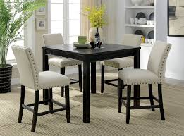 Kristie Rustic Style Antique Black Finish 5pc Counter Height Dining