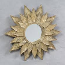 antique gold sunflower wall mirror on antique gold metal wall art with antique gold sunflower wall mirror home decor pinterest